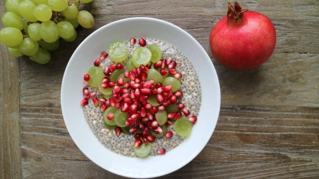 Basic Recipe for Chia Pudding, vegan and glutenfree. More inspiration on breakfastwithflowers.com