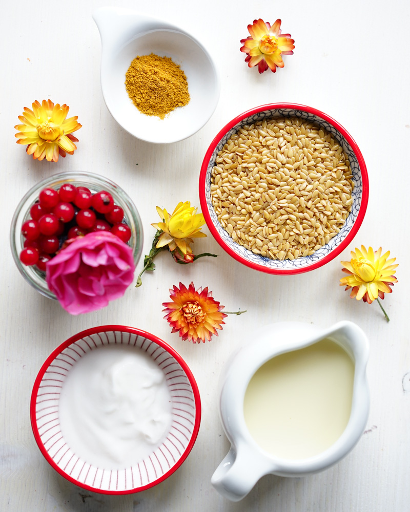Ingredients for Golden Flax Seed Pudding
